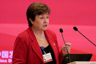FILE PHOTO: World Bank CEO Kristalina Georgieva speaks at the annual session of CDF 2018 in Beijing