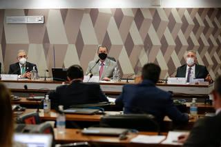 CPI da Covid, no Senado Federal, em Brasília (DF)