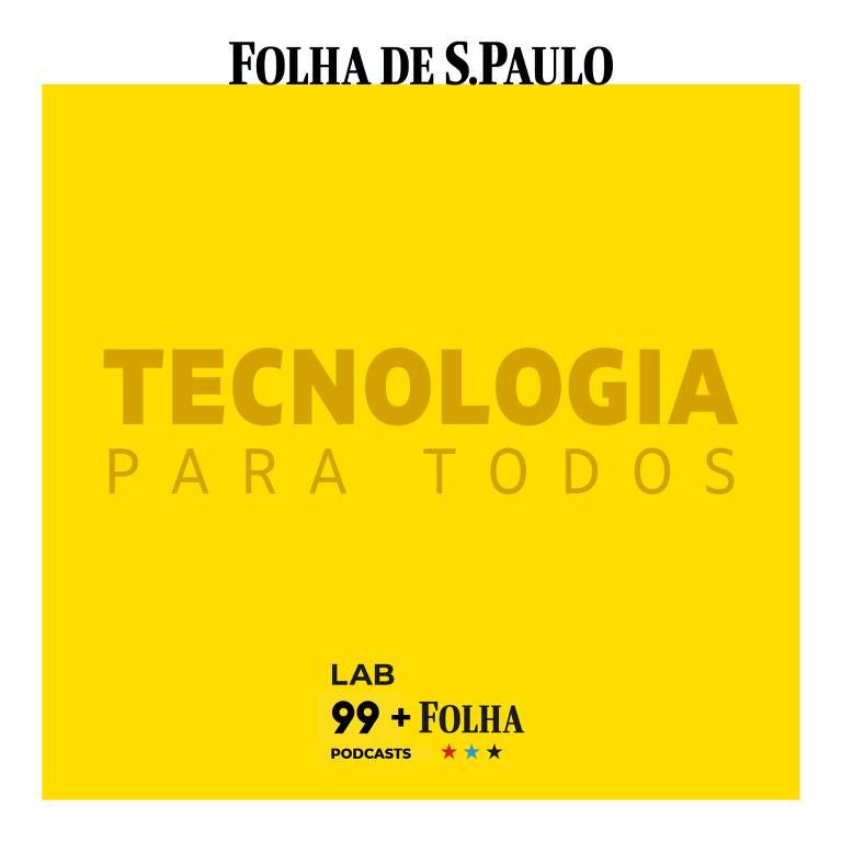 Fundo amarelo com os dizeres Tecnologia para todos