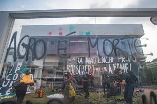 Ocupação sede Agrosoja Protesto contra a fome