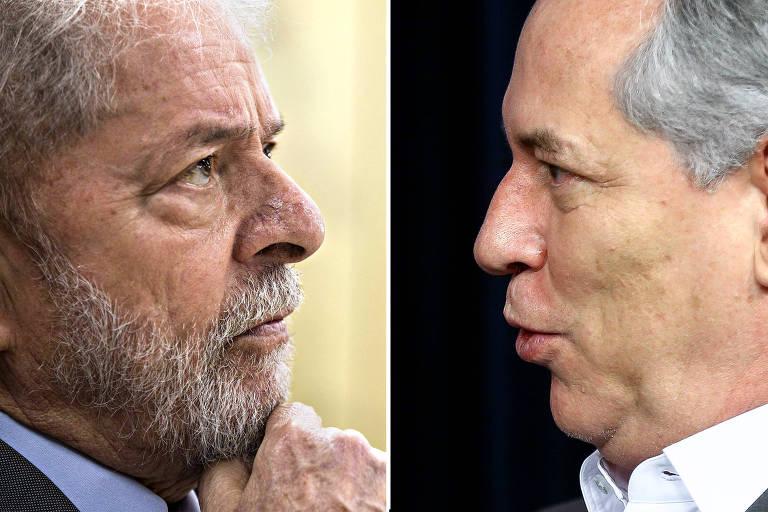 O ex presidente Lula e o ex-ministro Ciro Gomes