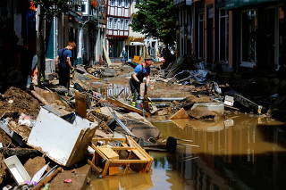 FILE PHOTO: Aftermath of heavy rainfall in Germany