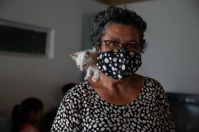 A freira Ana Maria da Silva, 60, que coordena abrigo para imigrantes venezuelanos em Pacaraima, em Roraima