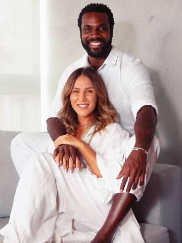 O casal Rafael Zulu e Aline Becker