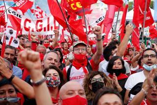 Protest against fascism in Rome