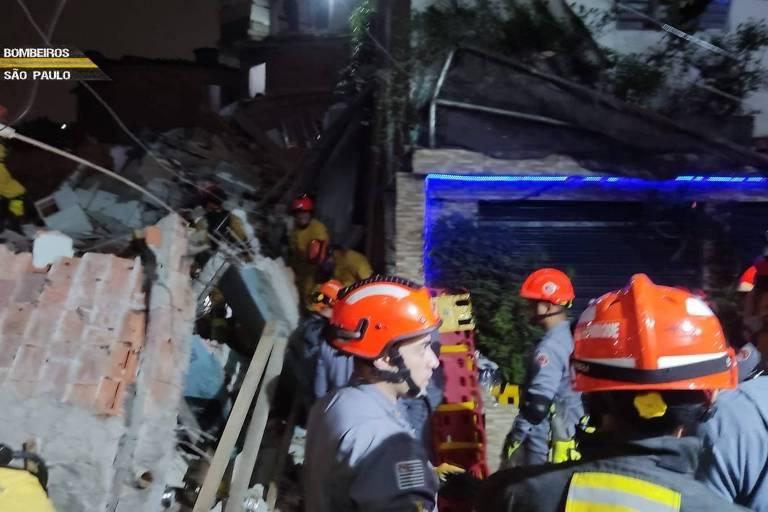 Prefeitura promete acelerar obra em córrego após desabamento em Paraisópolis, na zona sul de SP