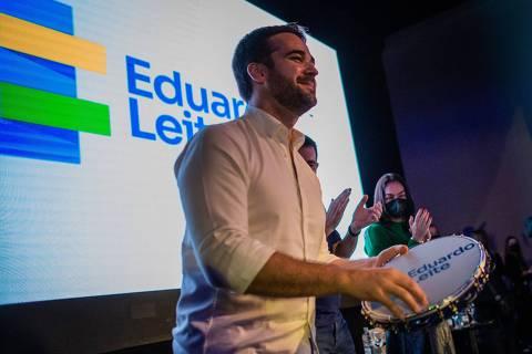 Espero que não volte o BolsoDoria, diz Eduardo Leite, ao buscar aliados em SP para prévias do PSDB