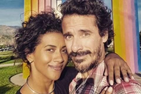 Aline Midlej e o marido Rodrigo Cebrian