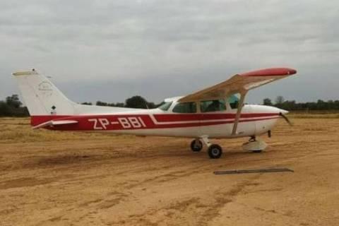 Avião furtado em Loma Plata, na região do Chaco Central, no Paraguai