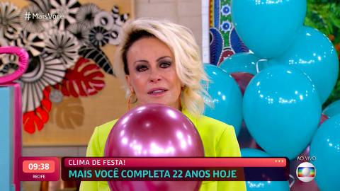 Ana Maria Braga se emociona no aniversário de 22 anos do 'Mais Você': 'Saudade de alguns momentos'