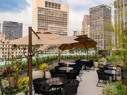 O mirante do Priceless recebeu o nome de Botâma; espaço tem vista para o edifício Martinelli e o Theatro Municipal