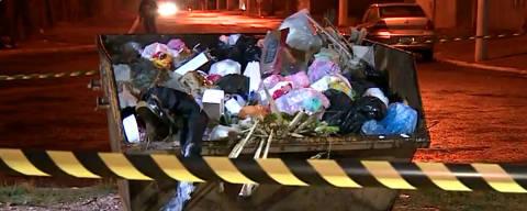 PAULINIA, SP, 19-10-2021  - Um recém-nascido morreu pouco depois de ter sido encontrado por um catadora de recicláveis em uma caçamba de lixo no bairro São José, em Paulínia (SP), nesta terça-feira (19). A criança não sobreviveu. (Foto:Reprodução/EPTV)