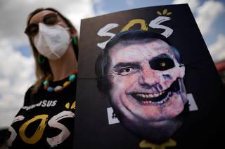Protest against Brazilian President Jair Bolsonaro in Brasilia