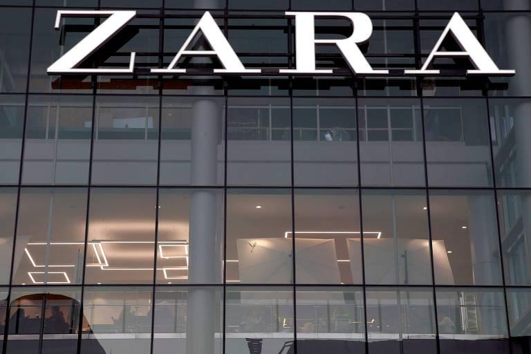 Fachada de loja com o letreiro Zara