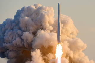 KSLV-II NURI rocket launches from its launch pad of the Naro Space Center in Goheung