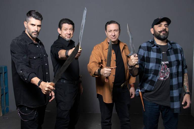 Os juizes Juan Pablo Llano,  Doug Marcaida, Ricardo Vilar e Mariano Gugliotta