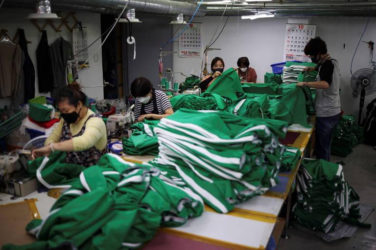 Procura por agasalhos de 'Round 6' reanima setor de vestuário sul-coreano