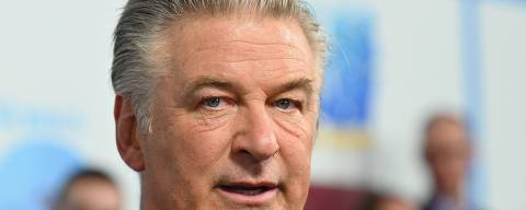 (FILES) In this file photo taken on June 22, 2021 US actor Alec Baldwin attends DreamWorks Animation's