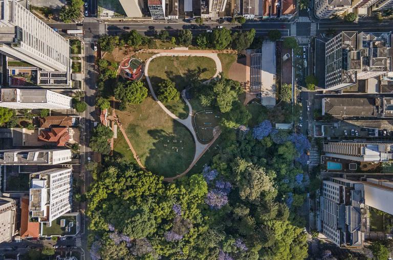 Vista de cima dos 24 mil m² do Parque Augusta Prefeito Bruno Covas, que será aberto no início de novembro