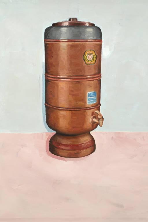 Fábio Menino expôs o óleo 'Filtro de Barro' na 'Casa Carioca', mostra do Museu de Arte do Rio