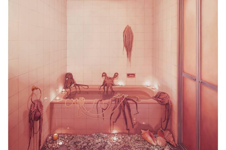 Com obras que justapõem o interior doméstico à fauna e à flora, Ana Elisa Egreja subverte a realidade