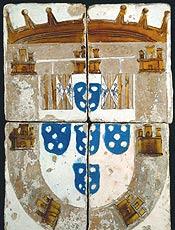 """Azulejo exposto nas """"As Coleções do Museu do Azulejo de Lisboa"""""""