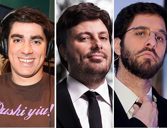Marcelo Adnet, Danilo Gentili e Rafinha Bastos (esq. p/ dir) se apresentam na terceira edição do Risadaria