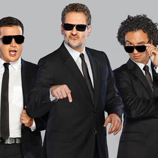 Rafael Cortez, Dan Stulbach e Marco Luque, na nova bancada do