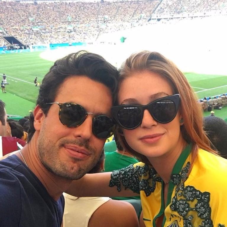 Wesley Safadão, Marina Ruy Barbosa e outros famosos assistem à goleada do Brasil no Maracanã