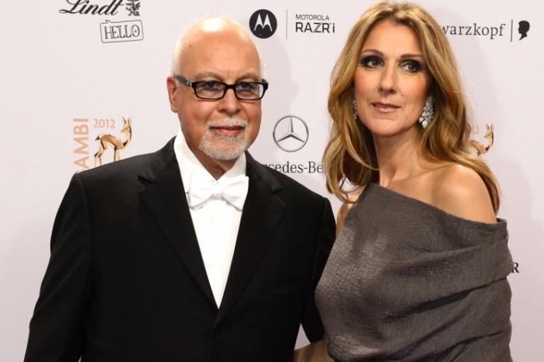 A cantora Celine Dion e seu marido