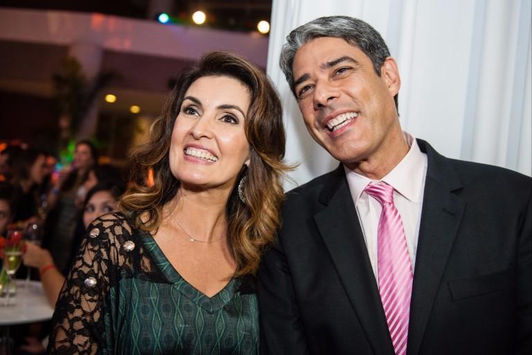 Os apresentadores Fátima Bernardes e William Bonner, em 2013