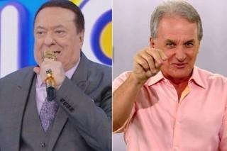 Os apresentadores Raul Gil (à esq.) e Otávio Mesquita