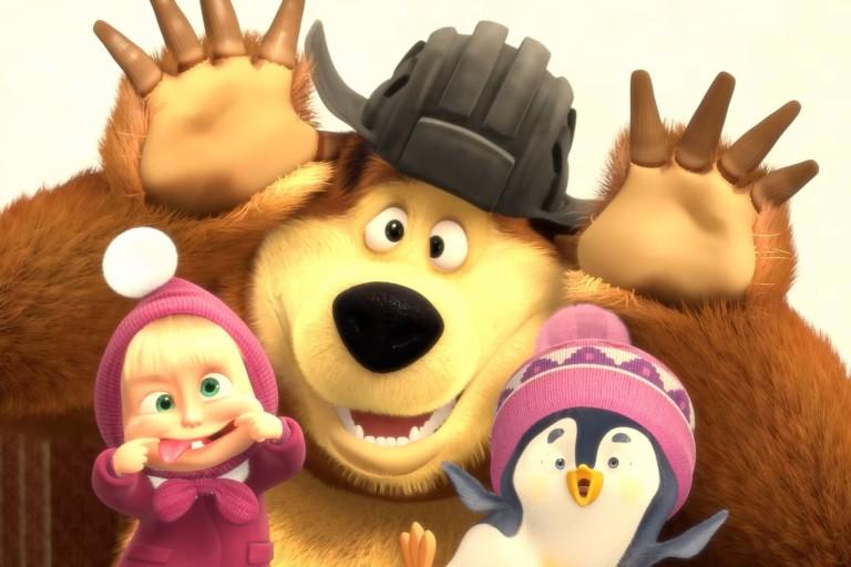Os personagens do desenho animado 'Masha e o Urso'