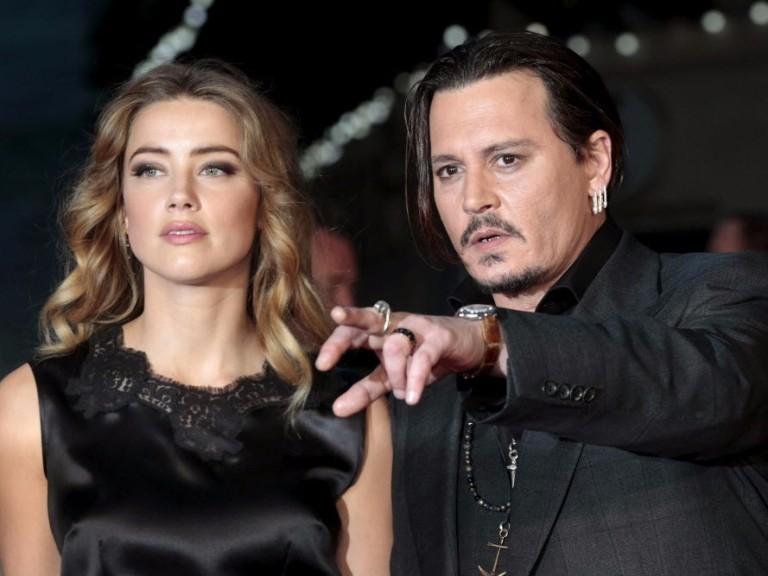 Johnny Depp e sua ex-mulher Amber Heard