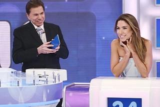 Silvio Santos com a filha Patrícia Abravanel