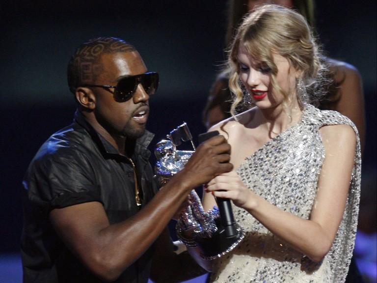 Relembre a briga de Kanye West e Taylor Swift que completa 10 anos