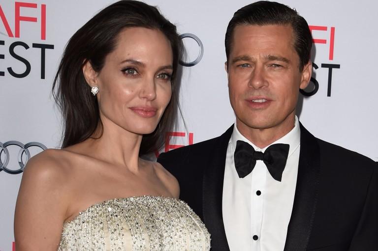 Angelina Jolie e Brad Pitt, em 2017