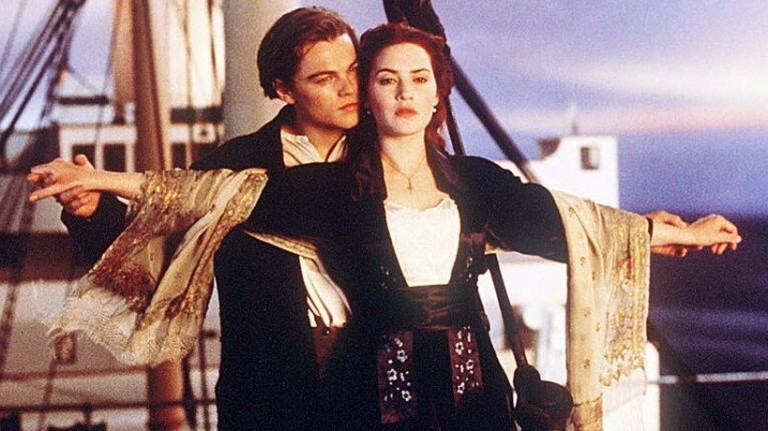 Kate Winslet em cena de 'Titanic'