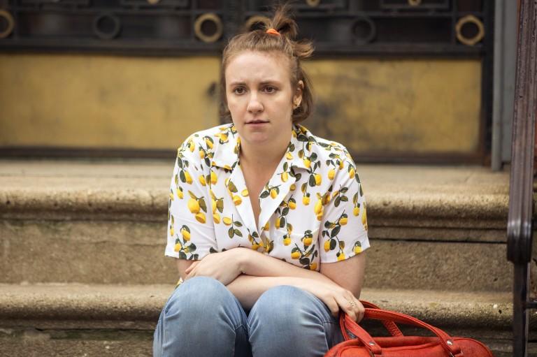 A atriz, diretora e escritora Lena Dunham em cena da s�rie 'Girls
