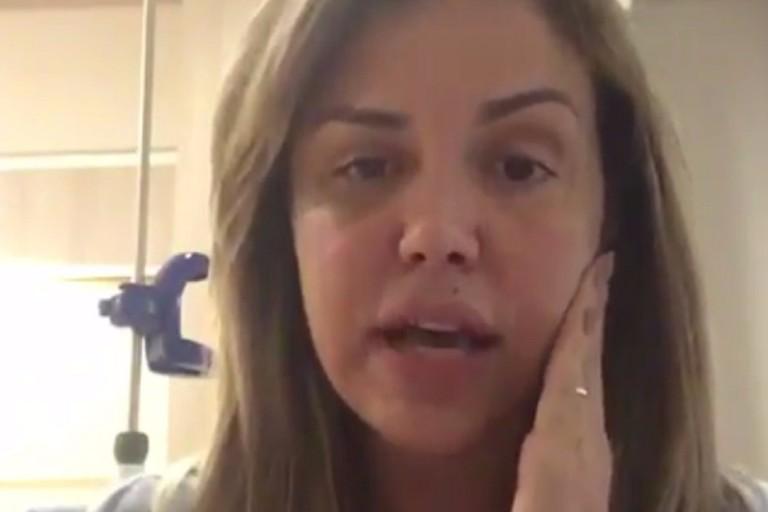 Renata Banhara publica foto em hospital