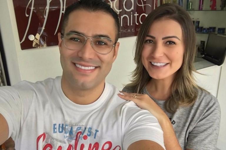 Após anunciar fim do casamento, AndressaUrach apaga publicação nas redes sociais