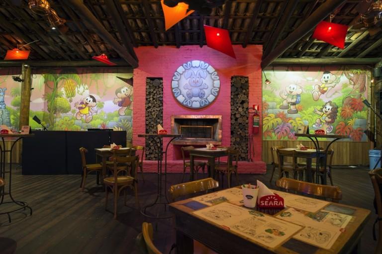 Ambiente do restaurante Chacára Turma da Mônica