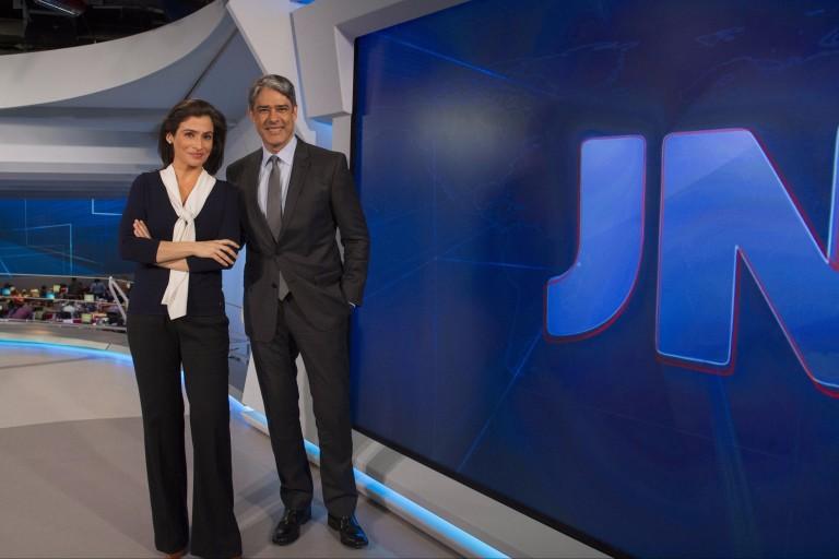 """William Bonner e Renata Vasconcellos, apresentadores do """"Jornal Nacional"""""""