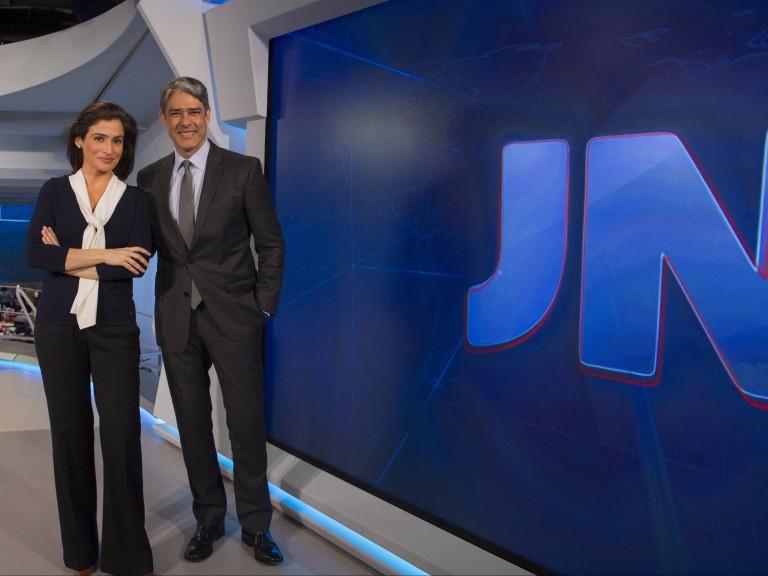 William Bonner e Renata Vasconcellos, apresentadores oficiais do Jornal Nacional