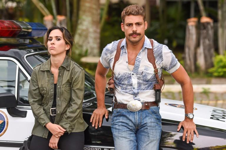Cauã Reymond e Tatá Werneck em cena do filme 'A Dupla'