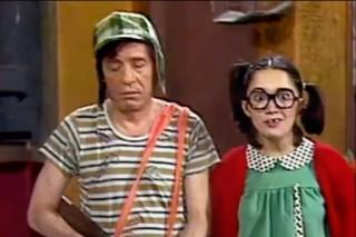 Roberto Bolaños e Maria Antonieta de las Nieves no seriado 'Chaves'