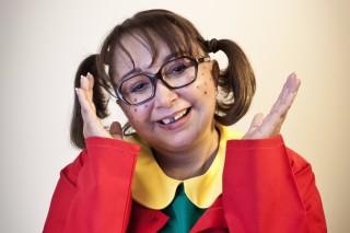 Maria Antonieta de las Nieves caracterizada como Chiquinha em visita ao Brasil, em 2013