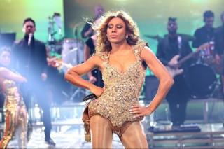 Icaro Silva como Beyoncé no 'Show dos Famosos'
