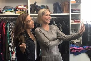 Wanessa Camargo e Mônica Salgado no closet da cantora
