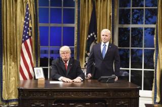 o ator Alec Baldwin, conhecido por sua imitação do presidente americano Donald Trump no